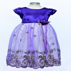 New Purple & Gold Girls Party Dress